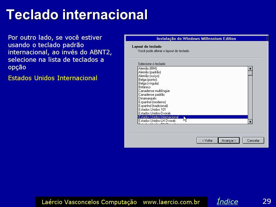 Teclado internacional