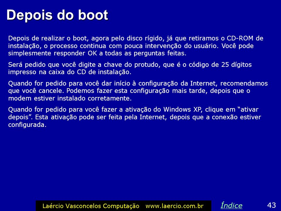 Depois do boot
