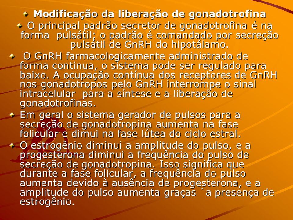 Modificação da liberação de gonadotrofina