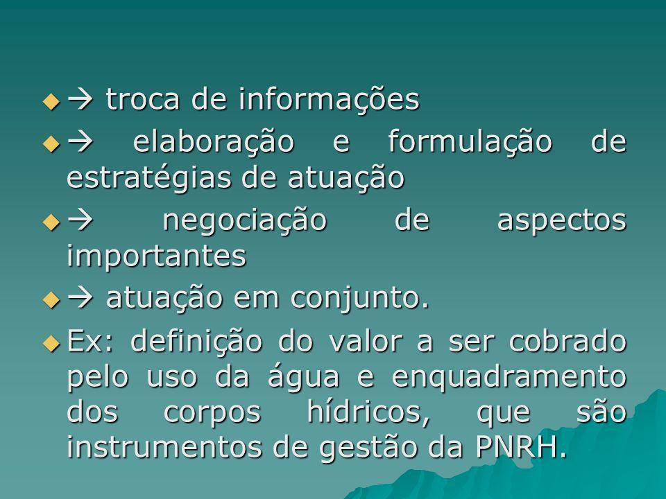  troca de informações  elaboração e formulação de estratégias de atuação.  negociação de aspectos importantes.