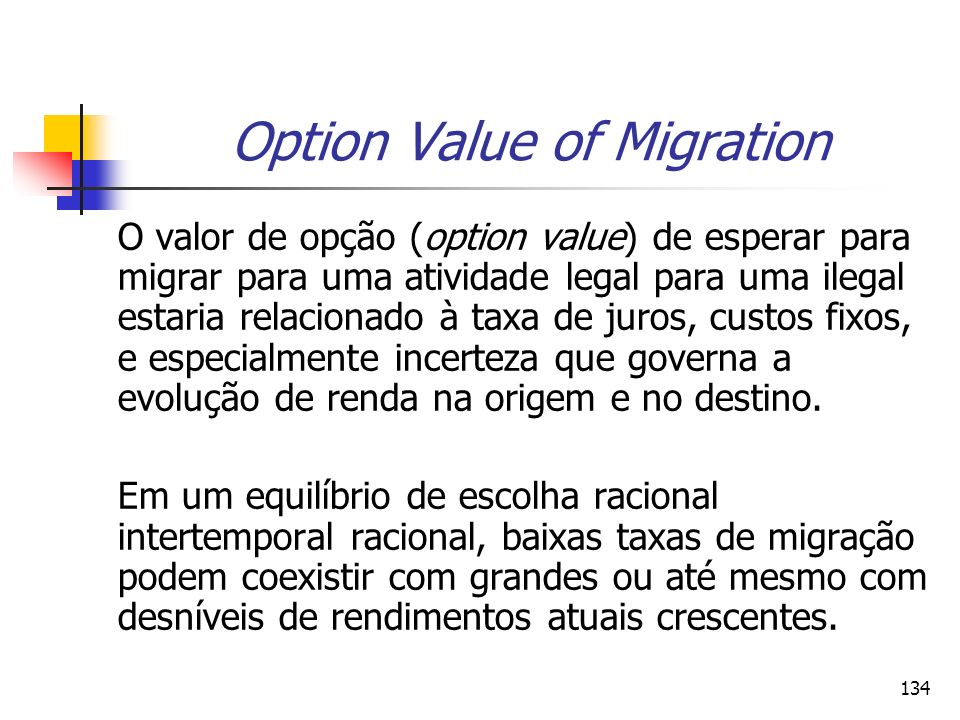 Option Value of Migration