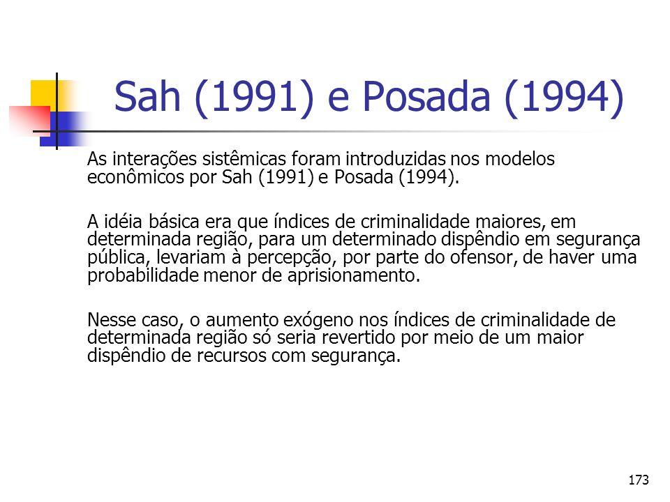 Sah (1991) e Posada (1994) As interações sistêmicas foram introduzidas nos modelos econômicos por Sah (1991) e Posada (1994).