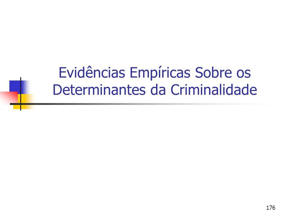 Evidências Empíricas Sobre os Determinantes da Criminalidade