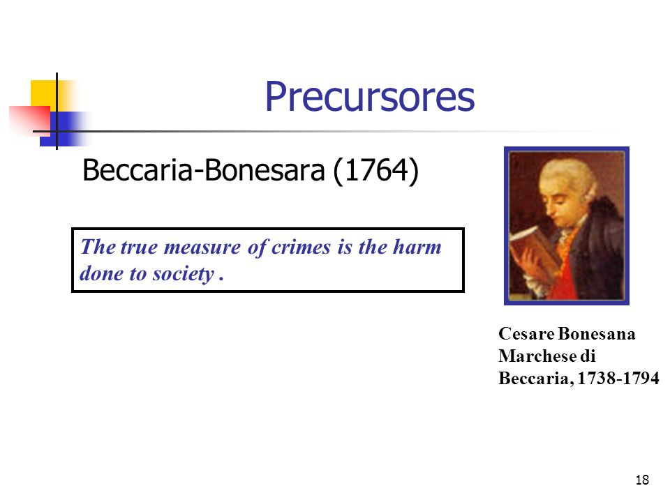 Precursores Beccaria-Bonesara (1764)