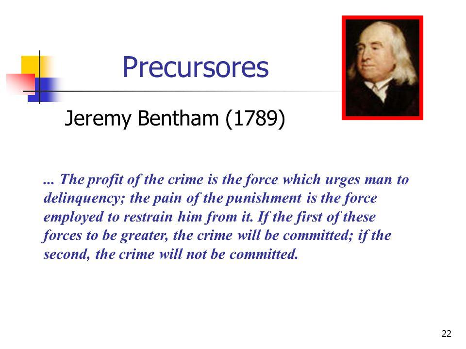 Precursores Jeremy Bentham (1789)