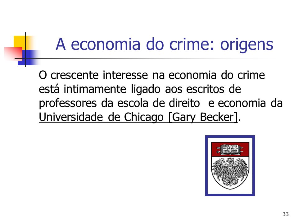 A economia do crime: origens