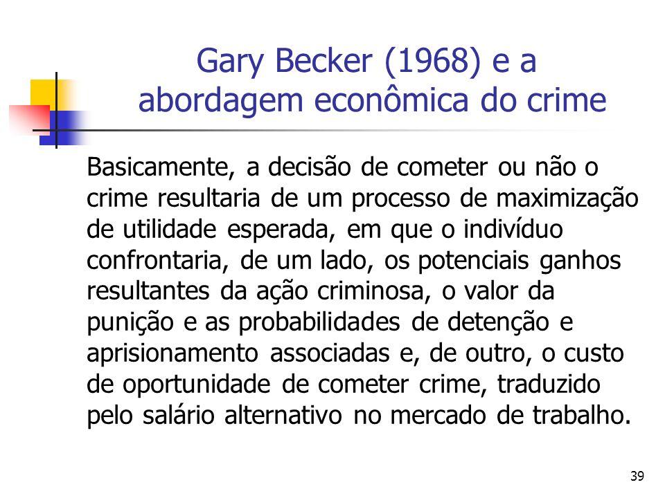 Gary Becker (1968) e a abordagem econômica do crime