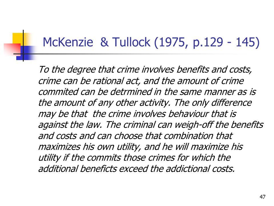 McKenzie & Tullock (1975, p.129 - 145)
