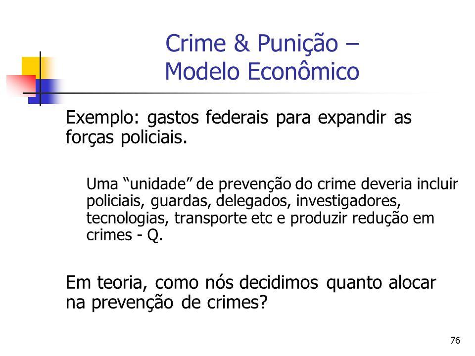 Crime & Punição – Modelo Econômico
