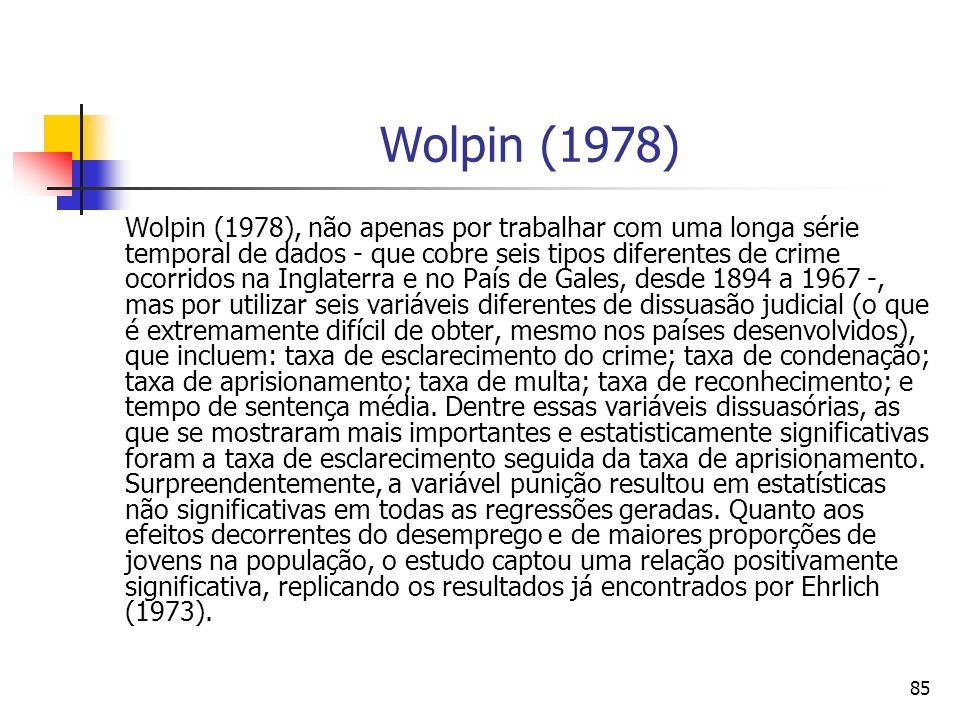Wolpin (1978)