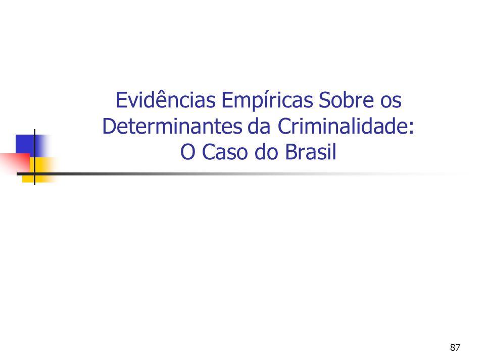 Evidências Empíricas Sobre os Determinantes da Criminalidade: O Caso do Brasil