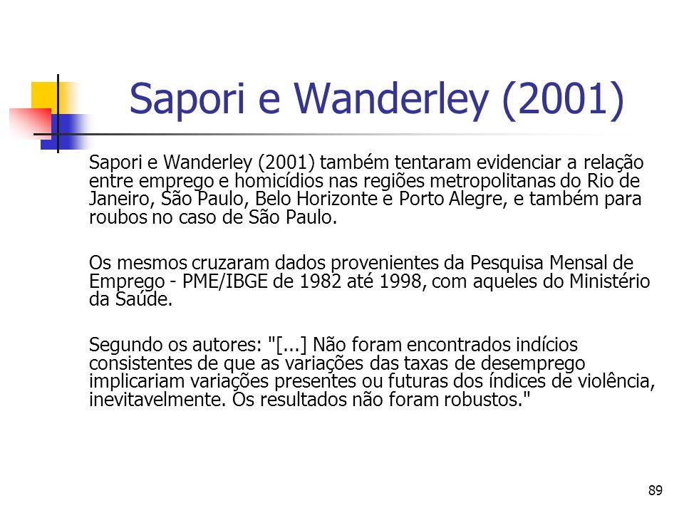 Sapori e Wanderley (2001)