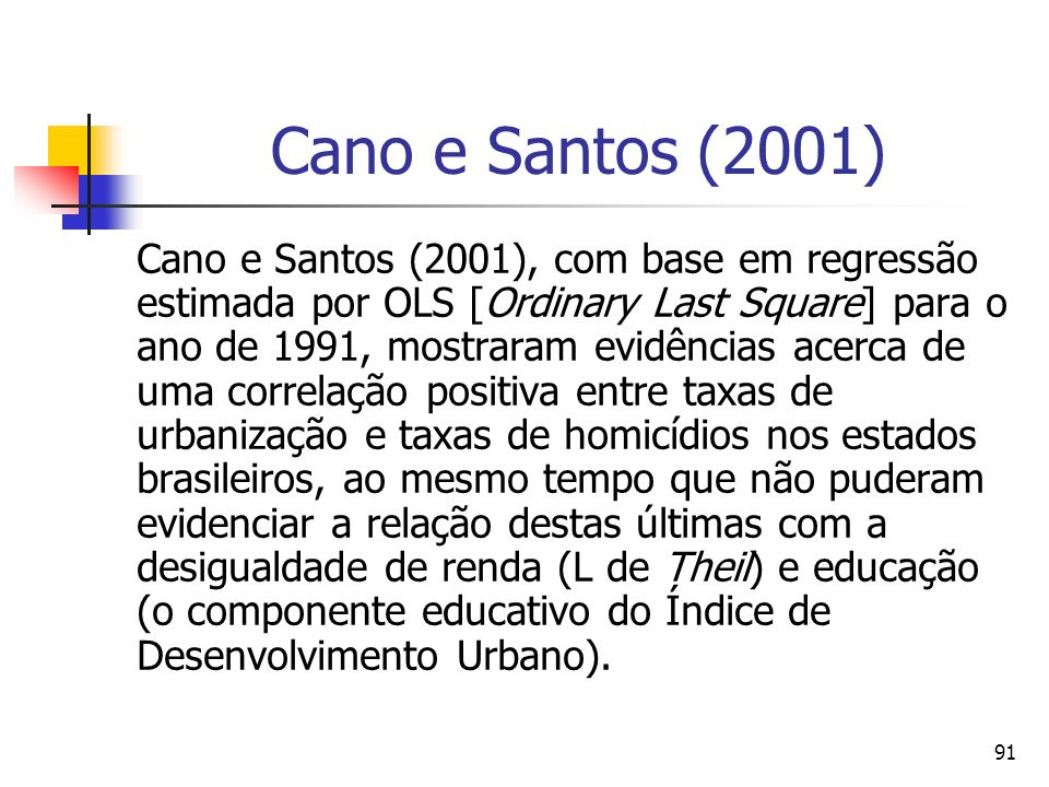 Cano e Santos (2001)
