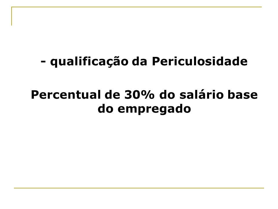 - qualificação da Periculosidade