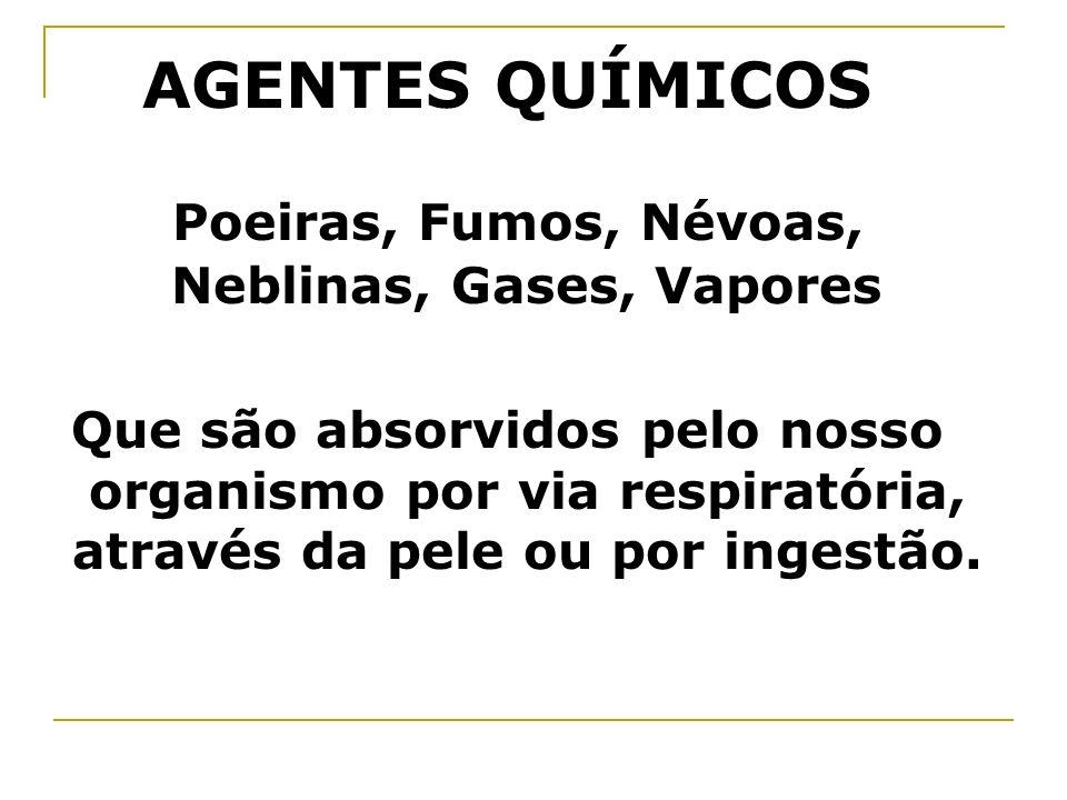 Poeiras, Fumos, Névoas, Neblinas, Gases, Vapores