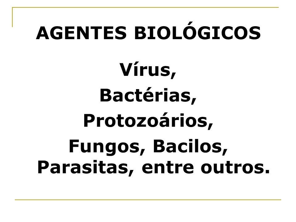 Fungos, Bacilos, Parasitas, entre outros.