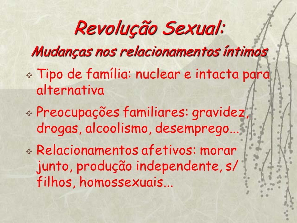 Revolução Sexual: Mudanças nos relacionamentos íntimos