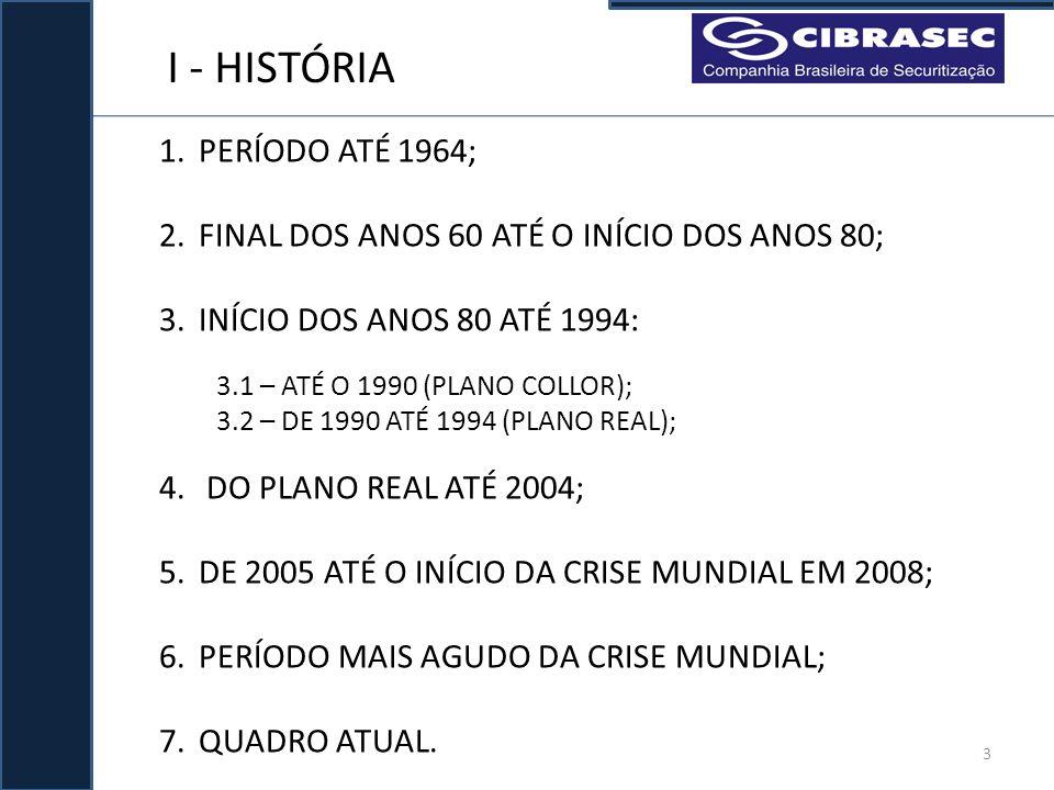 I - HISTÓRIA PERÍODO ATÉ 1964;