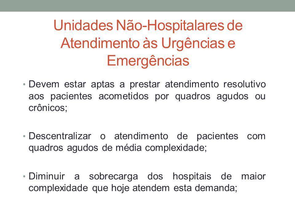 Unidades Não-Hospitalares de Atendimento às Urgências e Emergências
