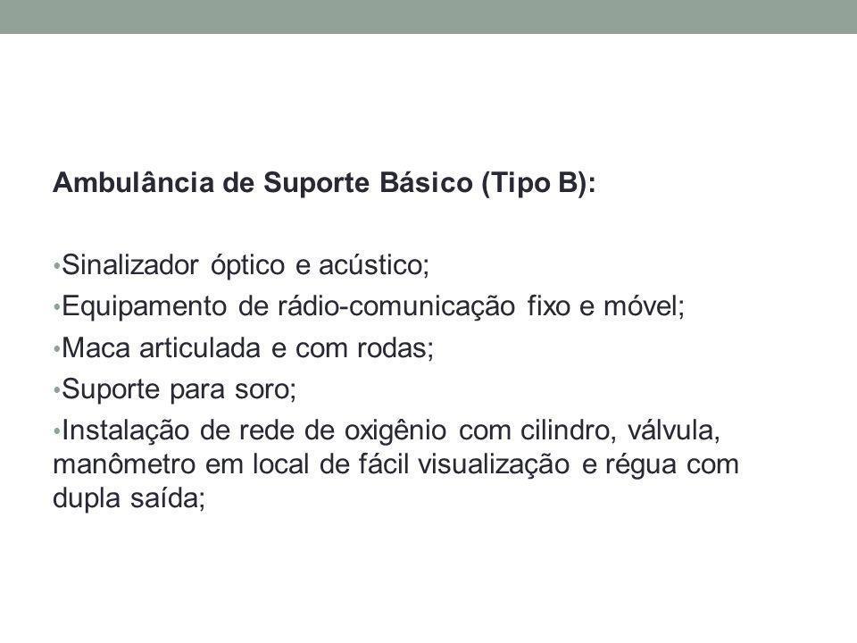 Ambulância de Suporte Básico (Tipo B):
