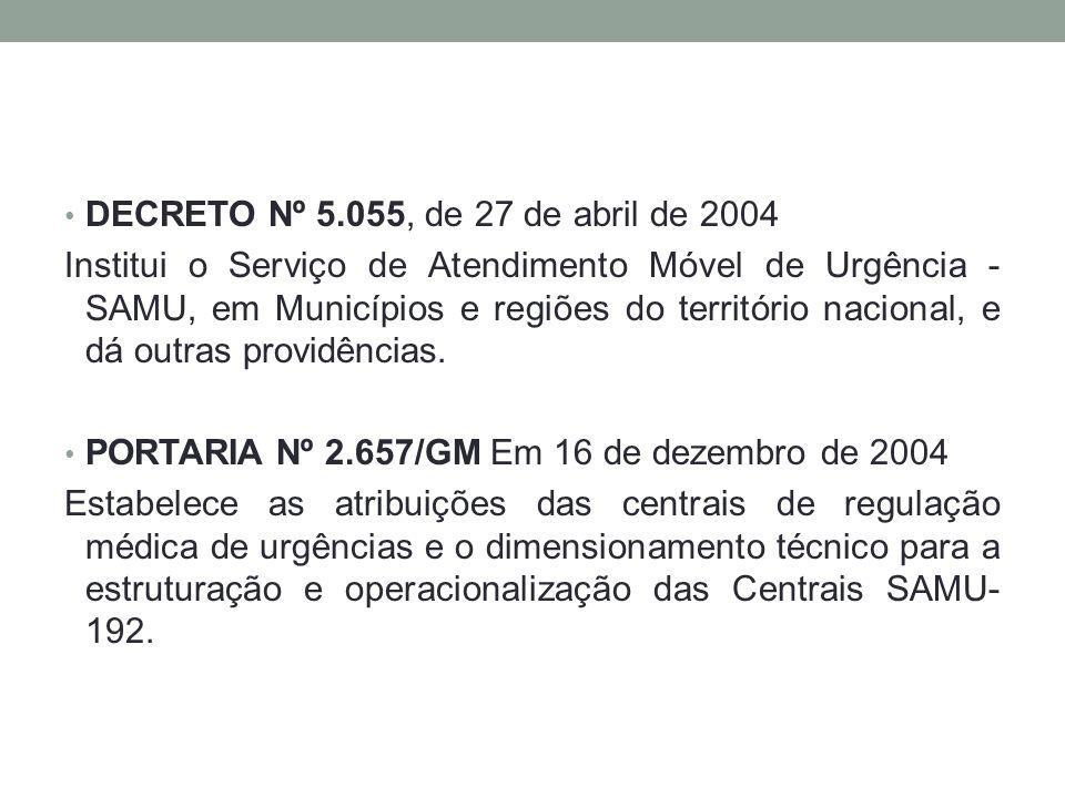 DECRETO Nº 5.055, de 27 de abril de 2004