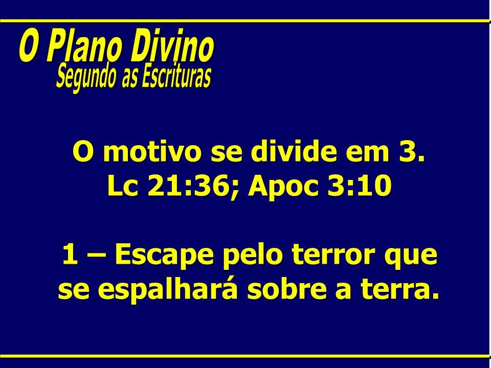 O Plano Divino Segundo as Escrituras. O motivo se divide em 3.
