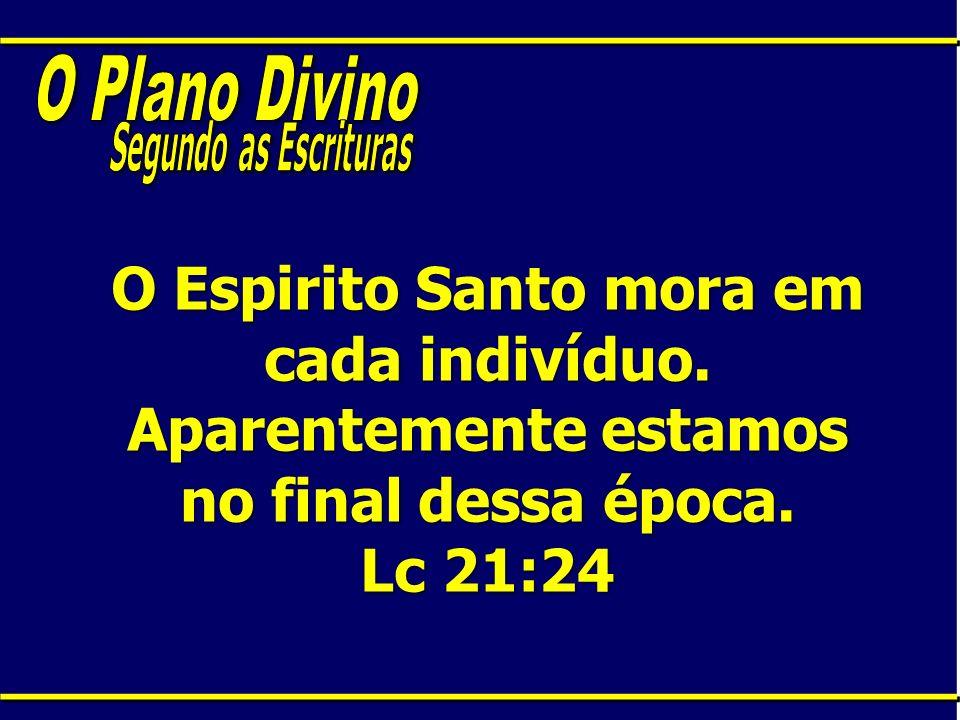 O Plano Divino Segundo as Escrituras. O Espirito Santo mora em cada indivíduo.