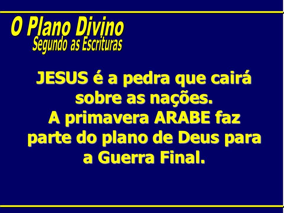 O Plano DivinoSegundo as Escrituras.JESUS é a pedra que cairá sobre as nações.