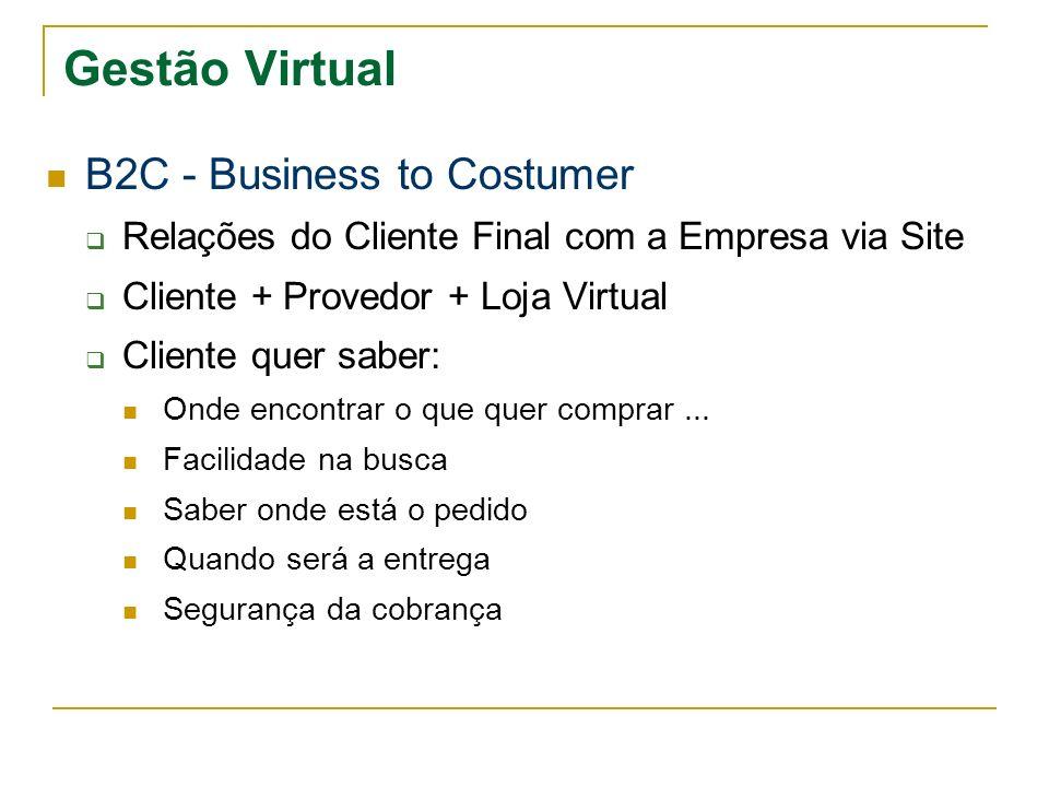 Gestão Virtual B2C - Business to Costumer