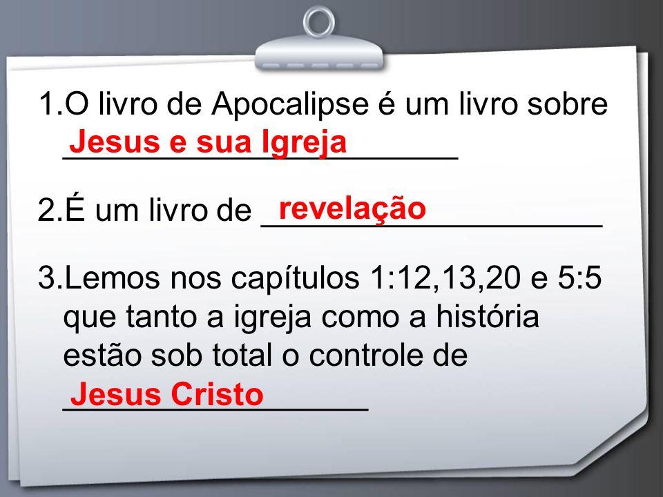 O livro de Apocalipse é um livro sobre ______________________