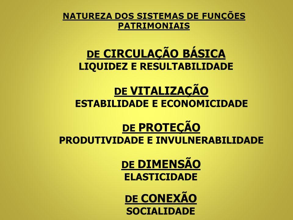 NATUREZA DOS SISTEMAS DE FUNÇÕES PATRIMONIAIS