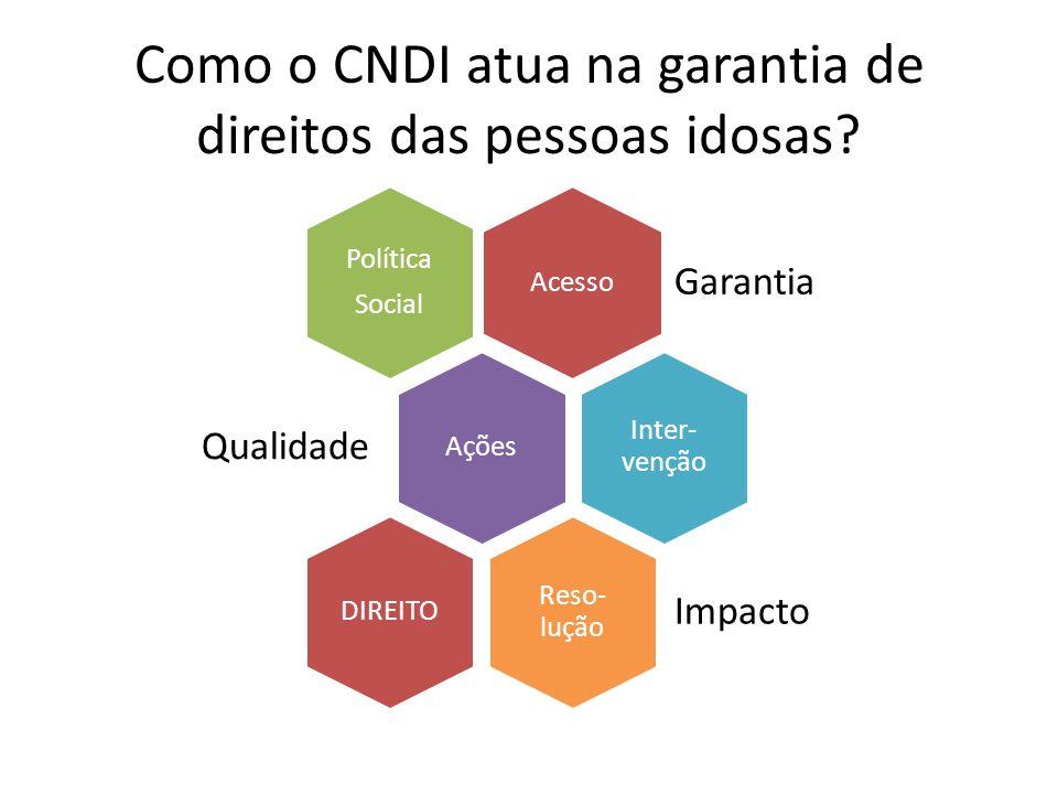 Como o CNDI atua na garantia de direitos das pessoas idosas