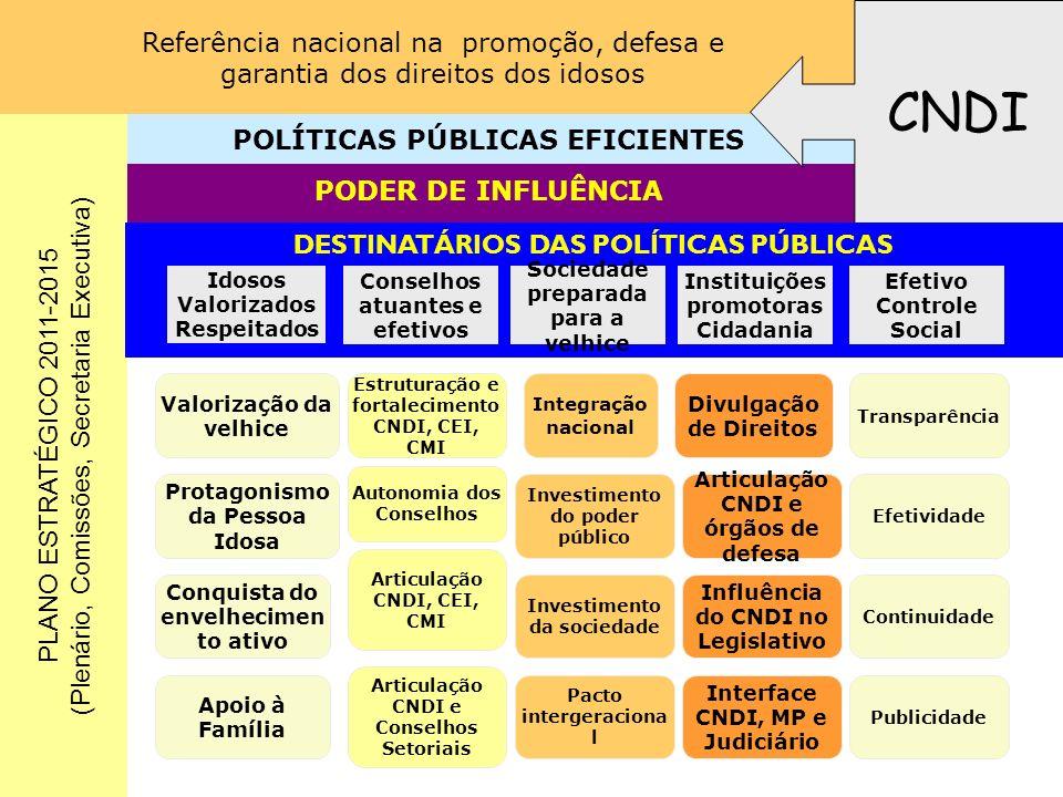 CNDI POLÍTICAS PÚBLICAS EFICIENTES PODER DE INFLUÊNCIA