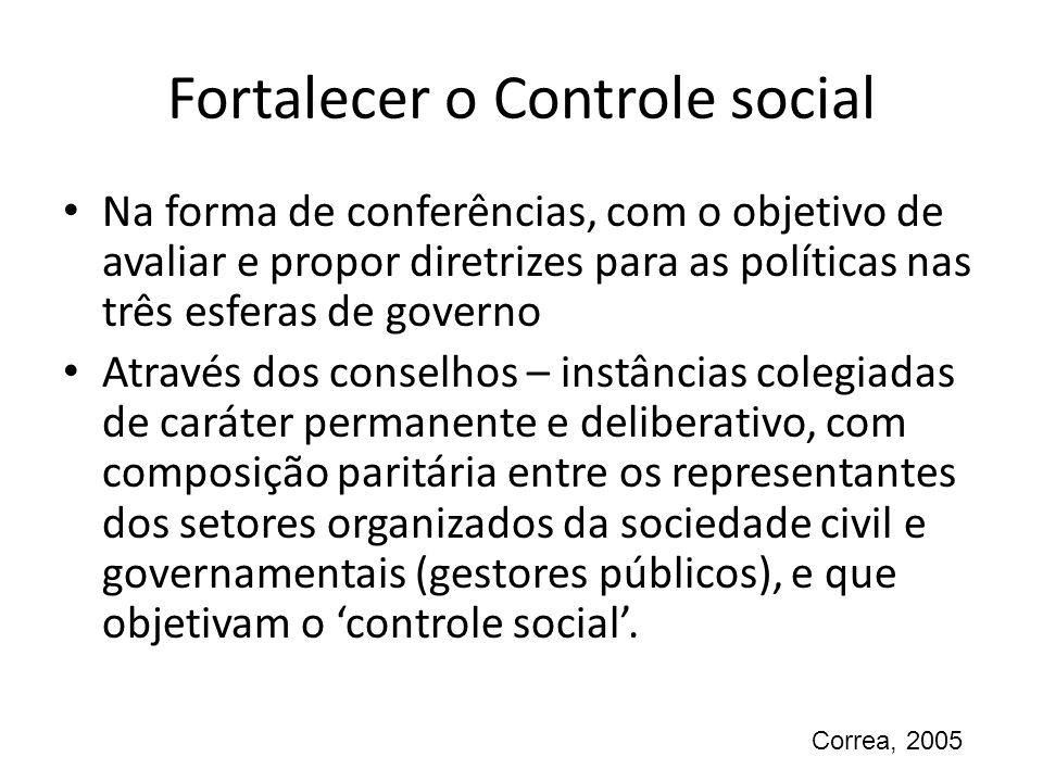 Fortalecer o Controle social
