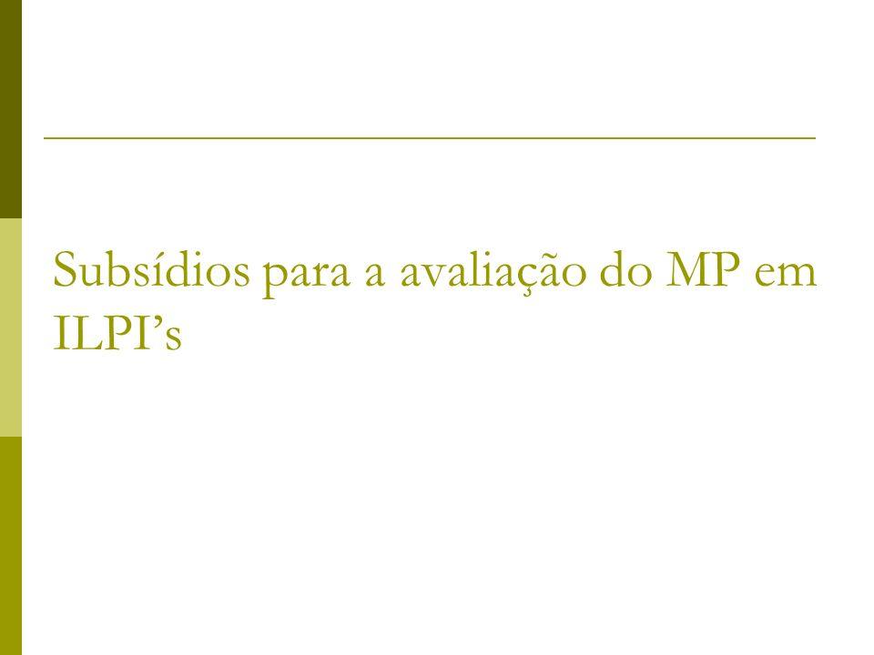 Subsídios para a avaliação do MP em ILPI's