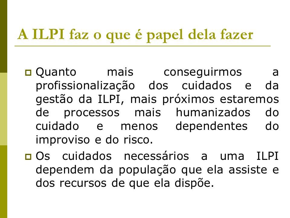 A ILPI faz o que é papel dela fazer