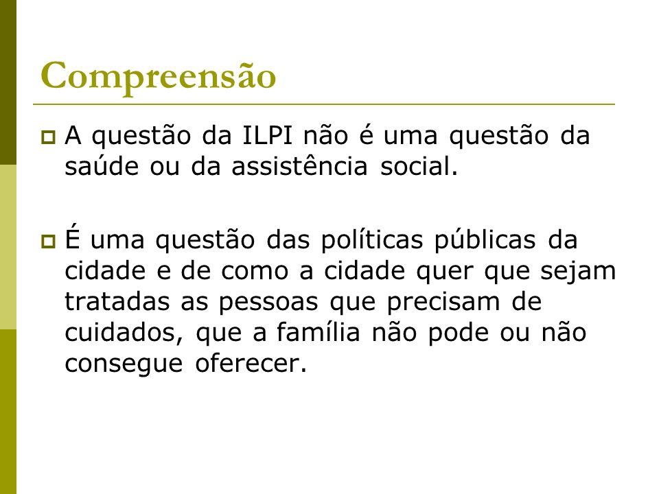 Compreensão A questão da ILPI não é uma questão da saúde ou da assistência social.