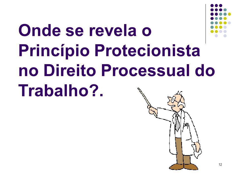 Onde se revela o Princípio Protecionista no Direito Processual do Trabalho .