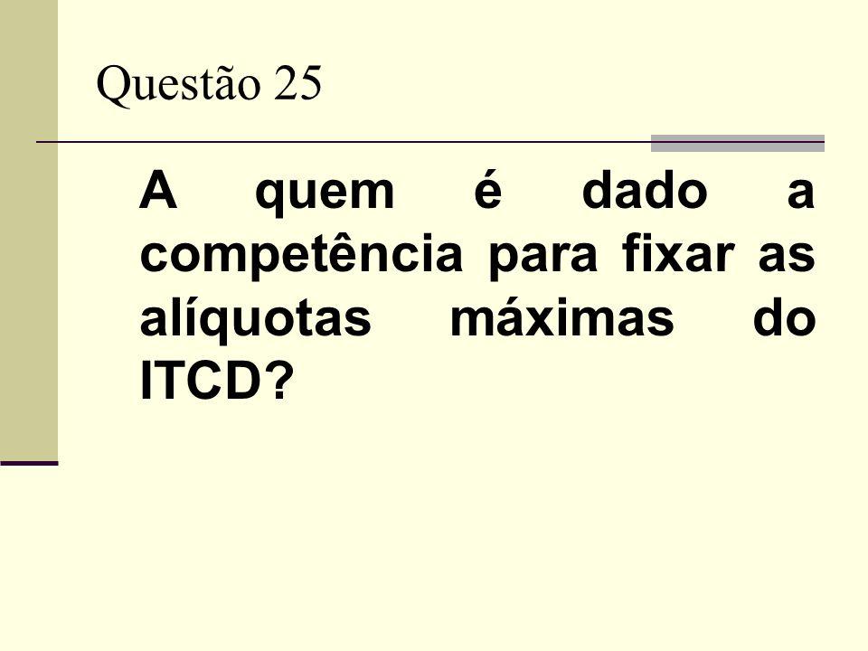 A quem é dado a competência para fixar as alíquotas máximas do ITCD