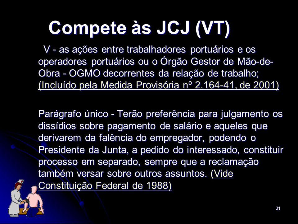 Compete às JCJ (VT)