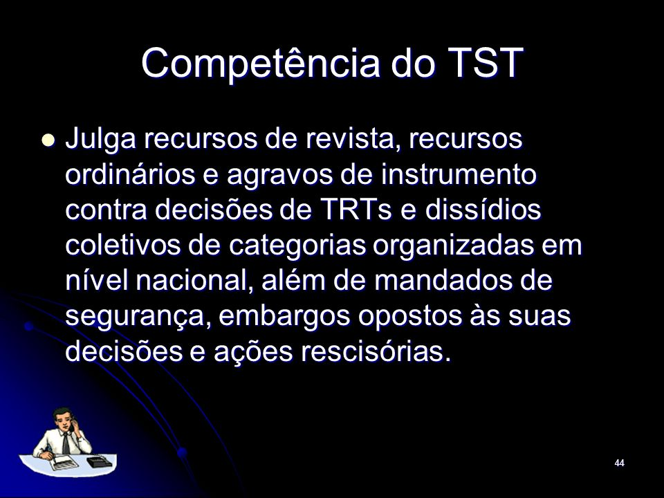 Competência do TST