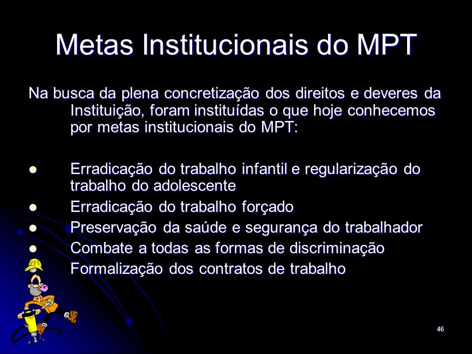 Metas Institucionais do MPT