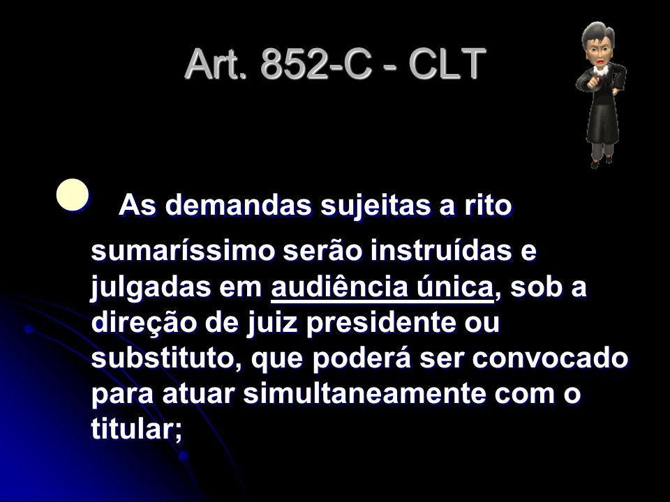 Art. 852-C - CLT