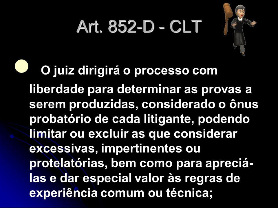 Art. 852-D - CLT