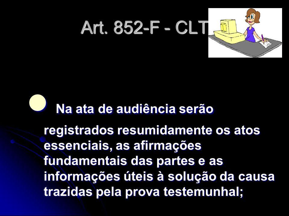 Art. 852-F - CLT