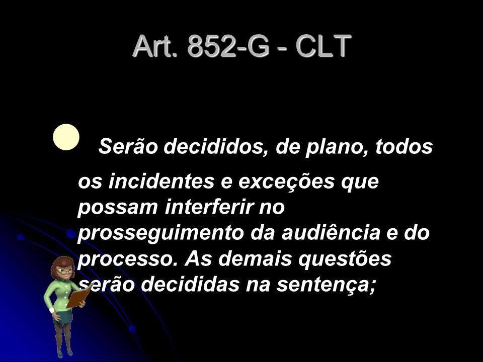 Art. 852-G - CLT