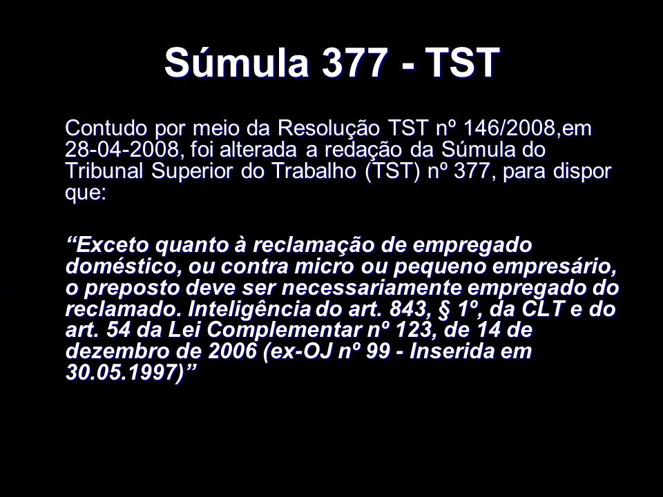 Súmula 377 - TST