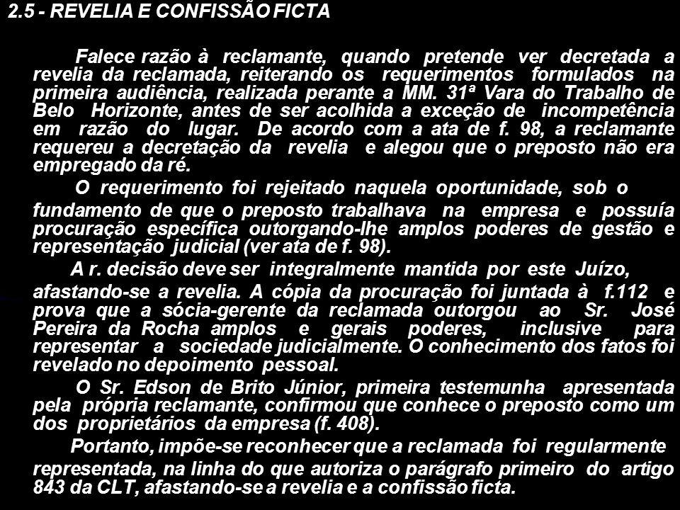 2.5 - REVELIA E CONFISSÃO FICTA