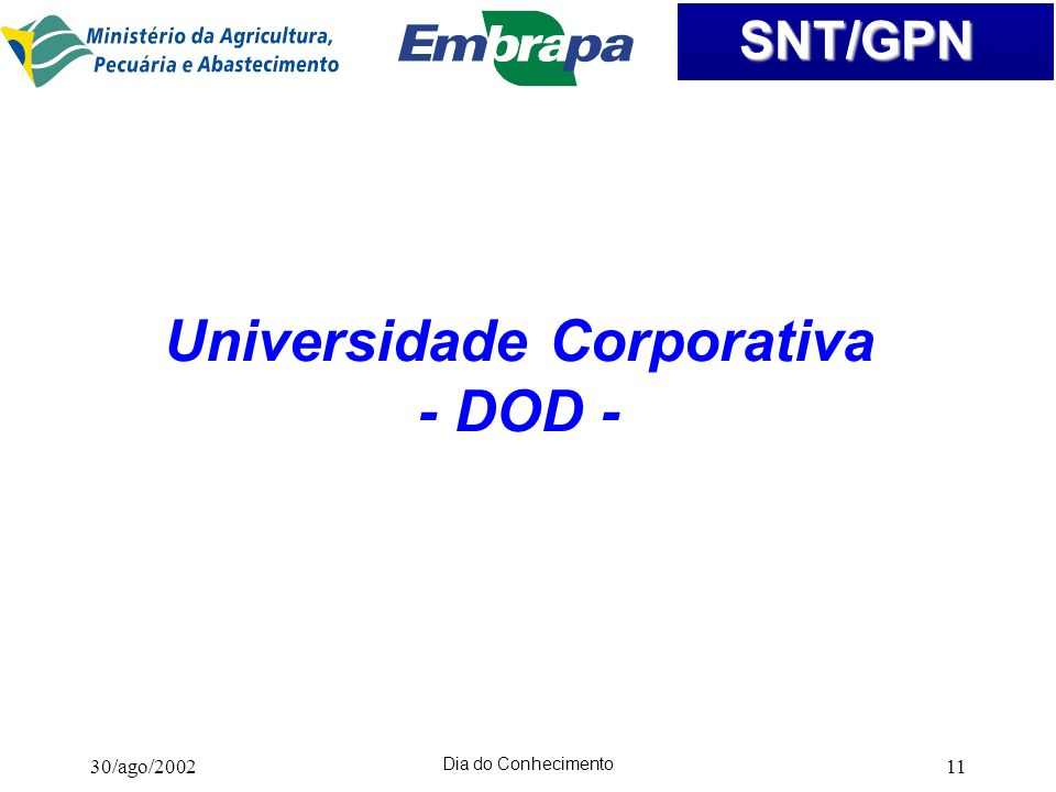 Universidade Corporativa - DOD -