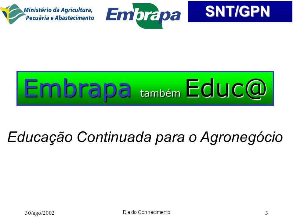 Embrapa também Educ@ Educação Continuada para o Agronegócio
